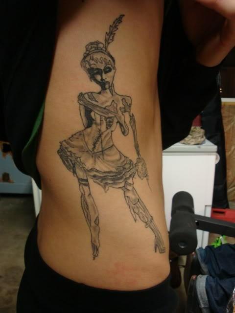 Zombie girl tattoo    #zombie #tattoo #ink