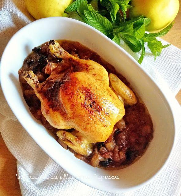In Cucina con Mamma Agnese: Galletto ripieno in Chutney di Mele e Prugne secch...