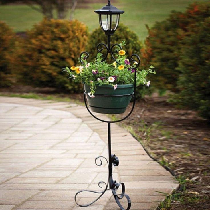 Planter Solar Lantern Garden Decor Lighting Outdoor Patio Decorative Yard New #Unbranded