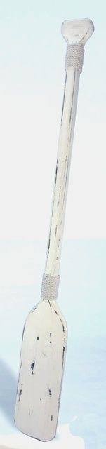 NauticalDecorStore - Antiqued White Wooden Paddle Oar, $49.95 (http://www.nauticaldecorstore.com/nautical-decor/antiqued-white-wooden-paddle-oar/)