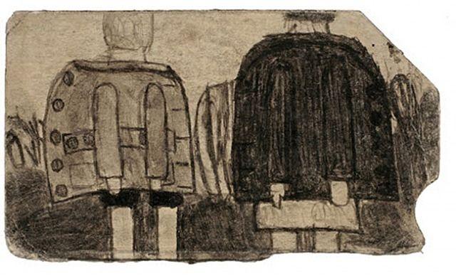 Figures in coats