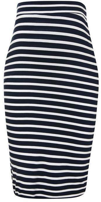 Topshop Maternity stripe tube skirt