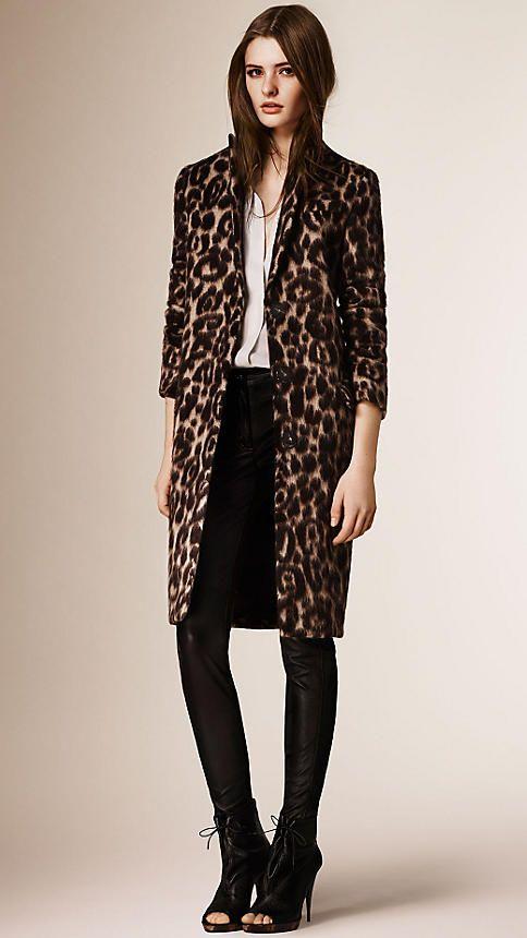 Camel Slim Fit Virgin Wool Alpaca Coat - Image 5