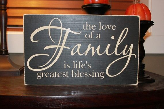 The love of a family is lifes greatest blessing, family, wood sign, blessing, Style HM16. $20.00, via Etsy.