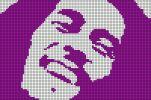 musique - music - bob marley - point de croix - cross stitch - Blog : http://broderiemimie44.canalblog.com/