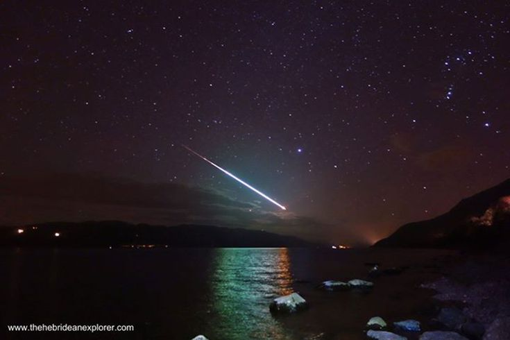 """This stunning image of a shooting star is what award-winning photographs are made of – but the man behind the lens said capturing the sight was an """"absolute fluke""""."""
