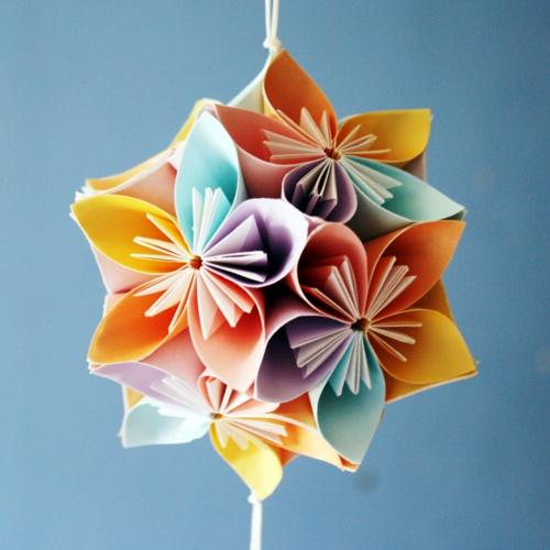 origami decor: wonderful colours