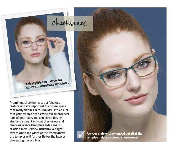 How to find the right specs for you if you have prominent cheekbones.