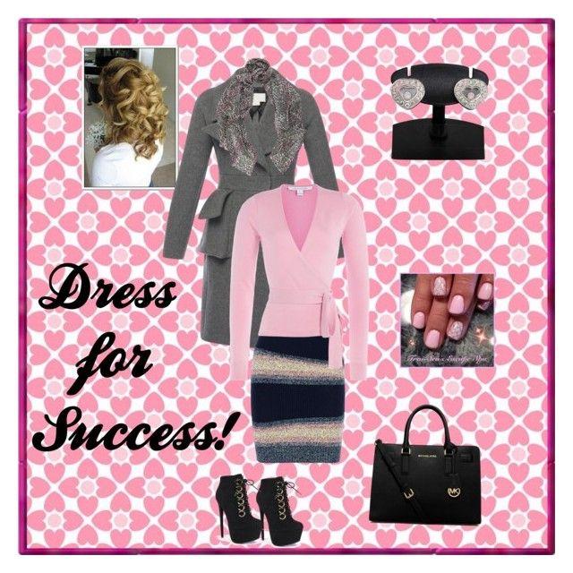 """Dress for Success!"" by sweetpeach18 ❤ liked on Polyvore featuring Antonio Berardi, Kenzo, Diane Von Furstenberg, MICHAEL Michael Kors, Fahrenheit, Mercy Delta, Chopard, women's clothing, women and female"