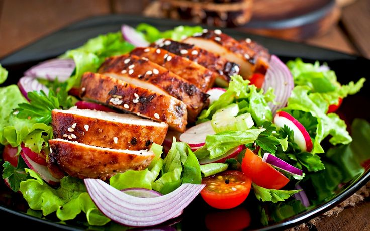 Roasted Garlic Chicken Sausage Caesar Salad   TROPICS FOOD