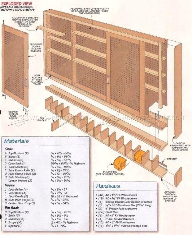 1798 Shop Pegboard Cabinet Plans Workshop Solutions Pegboard