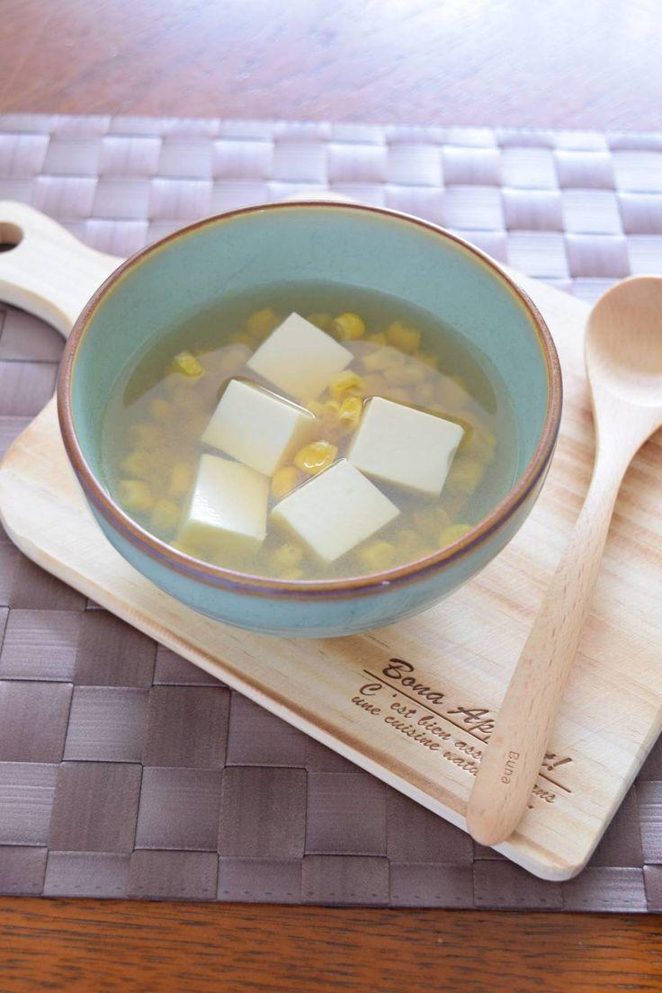 豆腐とコーンのコンソメスープ by 豊田 亜紀子 | レシピサイト「Nadia | ナディア」プロの料理を無料で検索