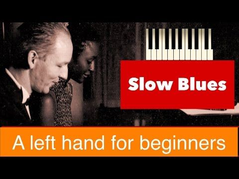(5) Slow Blues Piano, left hand for beginners - YouTube