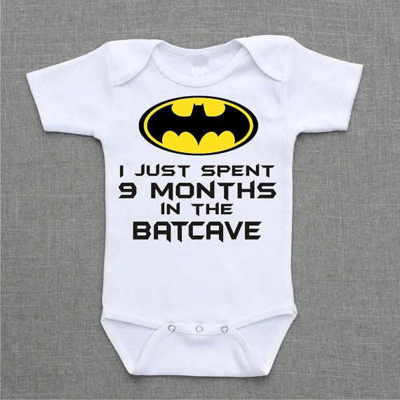 I just spent 9 months in the batcave Onesie Baby Bodysuit Romper Creeper or Shirt cute funny baby gift under 25 on Etsy, $13.50