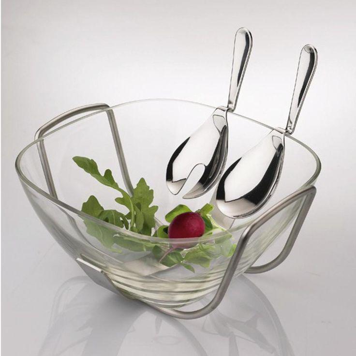 Coppia insalata Magic In Acciaio 18.10 EME | EME | Stilcasa.Net: bomboniere