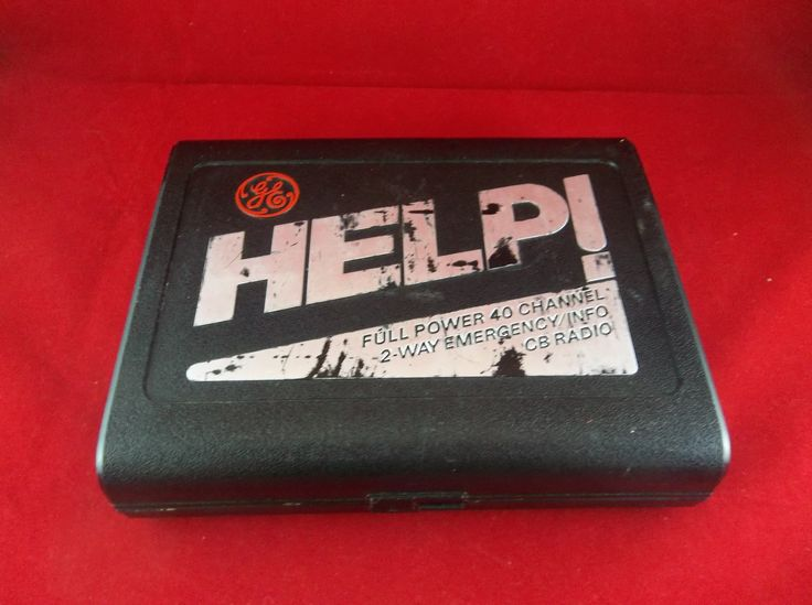 GE Help! Model 3-5909 40 Channel 2-Way Emergency Info Car CB Citizen Band Radio Receiver  #GE #Help #CB #Radio #Emergency #Info #Car #Vintage #Bonanza