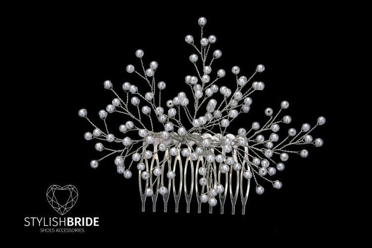 Pearl Hair Comb, Hair Comb, Wedding Hair Comb, Hair Accessories, Crystal Comb, Bridal Hairpiece by StylishBrideAccs on Etsy