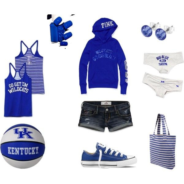gameday go big blue!, created by danielle-howard, my first attempt at polyvore