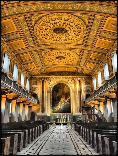 Chapel, Old Royal Naval College, Greenwich - heard JS Bach's Christmas Oratorio here last Christmas - absolutely wonderful...