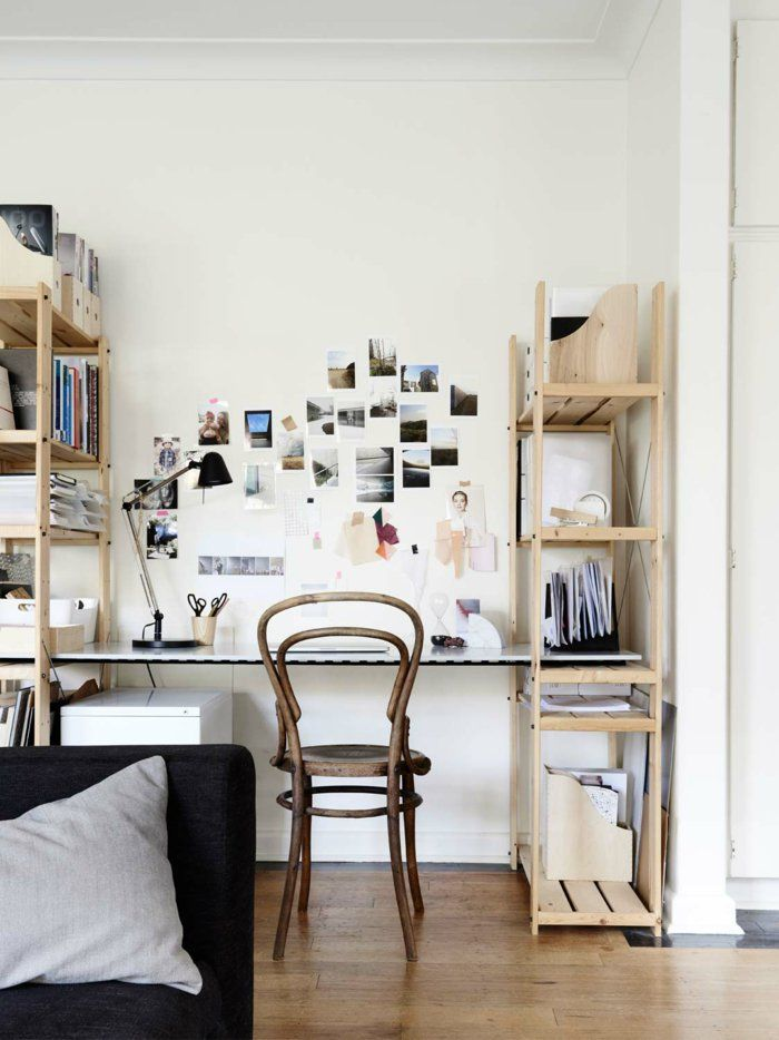 DIY Schreibtisch mit praktischen Holzregale beidseits