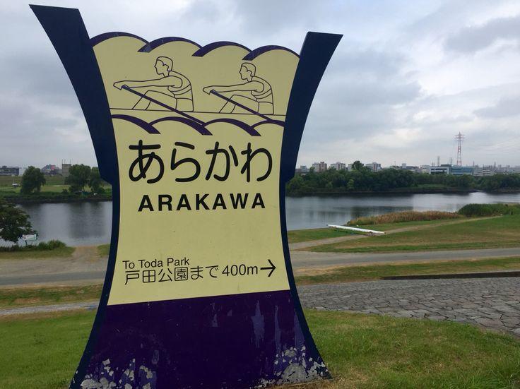 荒川、戸田市側。 1964年の東京オリンピック漕艇競技会場はすぐそこだ。 Arakawa, Toda Side. Just besides 1964 Tokyo Olympic Games Boat race course.