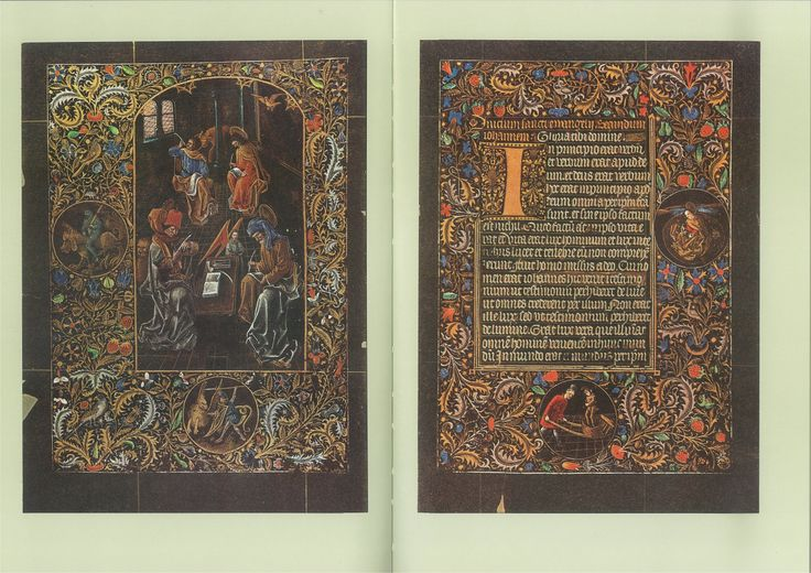 """openmarginalis: """" Black Hours of Galeazzo Maria Sforza (Sforza Black Hours), attributed to Master of Anthony of Burgundy, Belgium ca. 1466-1476 via Austrian National Library on Wikimedia Commons...."""