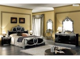 Barocco Black Italian Classic Bedroom Set By Camelgroup Italy