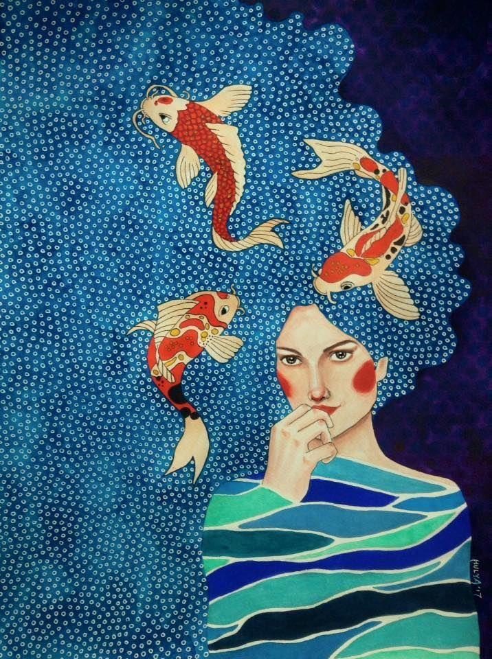 Gemälde von Hulya Ozdemir – Claire Ogden – #Clair…