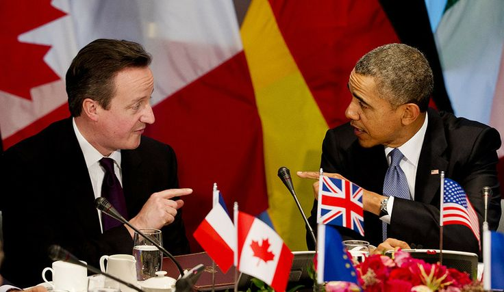 David Cameron and President Barack Obama during G7