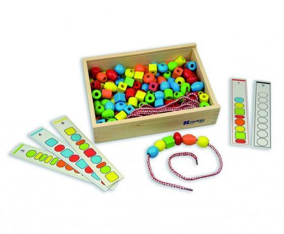 ANDREU Toys Box s korálky na navlékání (150 ks)