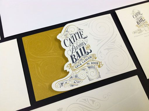Cory Say: Cattle Baron's Ball Stationery and CollateralDie Cut, Cattle Baron, Ball Stationery, Cory, Graphics Design, Design Illustration, Cut Out, Cattlebaron, Baron Ball