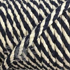 Bavlnená šnúra 5 mm dark blue