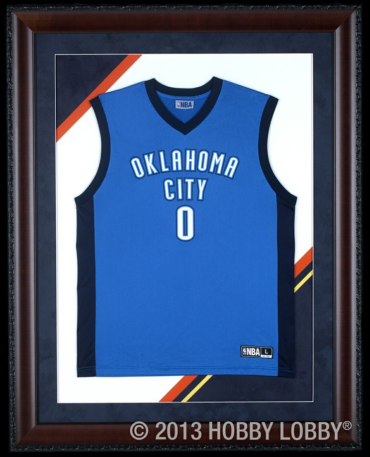 show your team spirit with a framed jersey