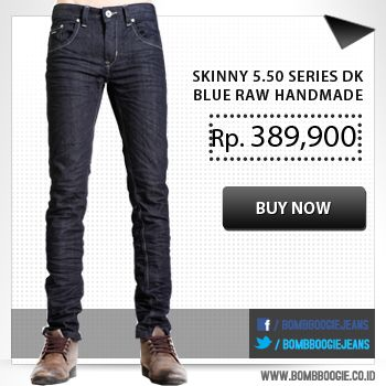 For catchy look, wear this awesome handmade jeans, available now on : www.bombboogie.co.id
