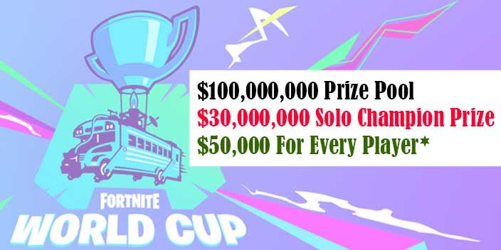 Fortnite World Cup Solo Champion Will Walk Away With 3 Million Dollars Price Fortnite Online Comic Books Comic Book Store