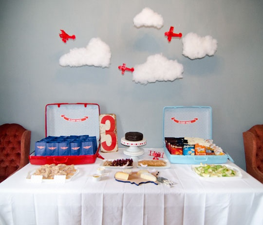 I. Love. This. Airplane themed party. Who cares if this if for the kids...