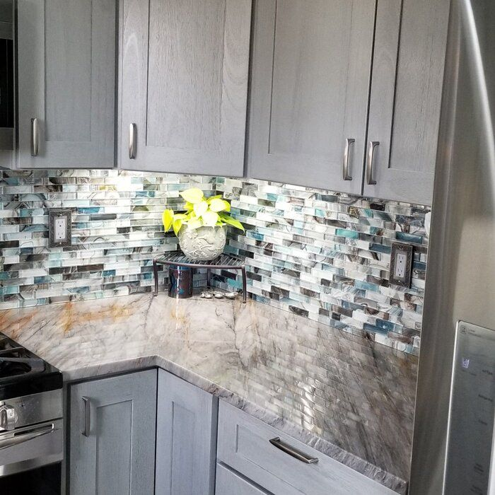 Neptune 1 X 4 Glass Mosaic Tile Mosaic Tile Backsplash Kitchen Glass Mosaic Tiles Kitchen Backsplash Designs