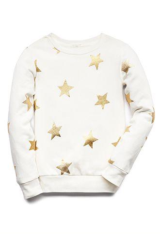 Shooting Star Sweatshirt (Kids)   FOREVER21 girls - 2000129556