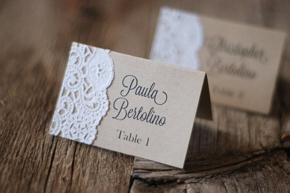 Handmade Rustic Tented Table Place Card Setting - Custom - Escort Card - Shabby Chic - Vintage Burlap & Lace - Gift Tag or Label - Thank You on Etsy, $1.00