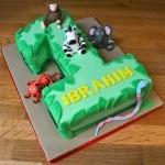 Number 1 jungle cake  www.thelittlevillagecakery.co.uk