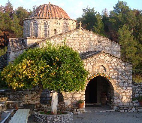 Archangelos Michail (Archangel Michael) monastery (Tharri Monastery), Tharri (to 10 km from Laerma), Rhodes, Greece