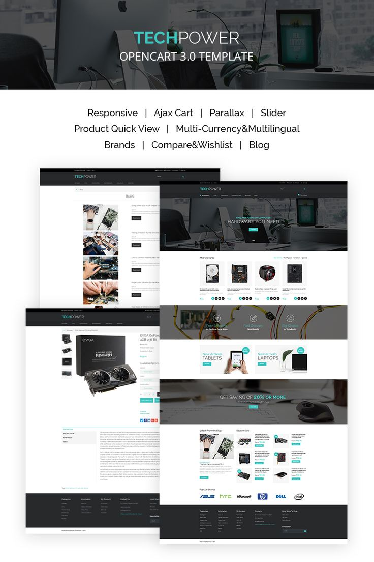 Hardware Shop OpenCart Template