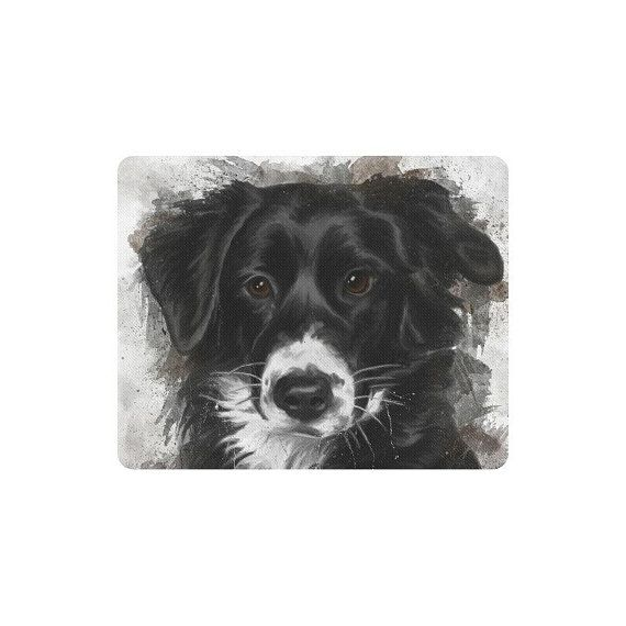 Tapis Souris Berger Australien Peinture Digitale Portrait Animal Objet Personnalise Accessoire Cadeau Animal Livraison Gratuite Tapis Souris Tapis