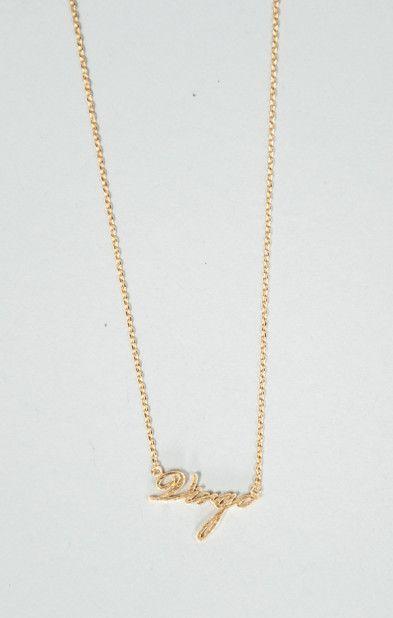 MUMU Virgo Star Sign Necklace