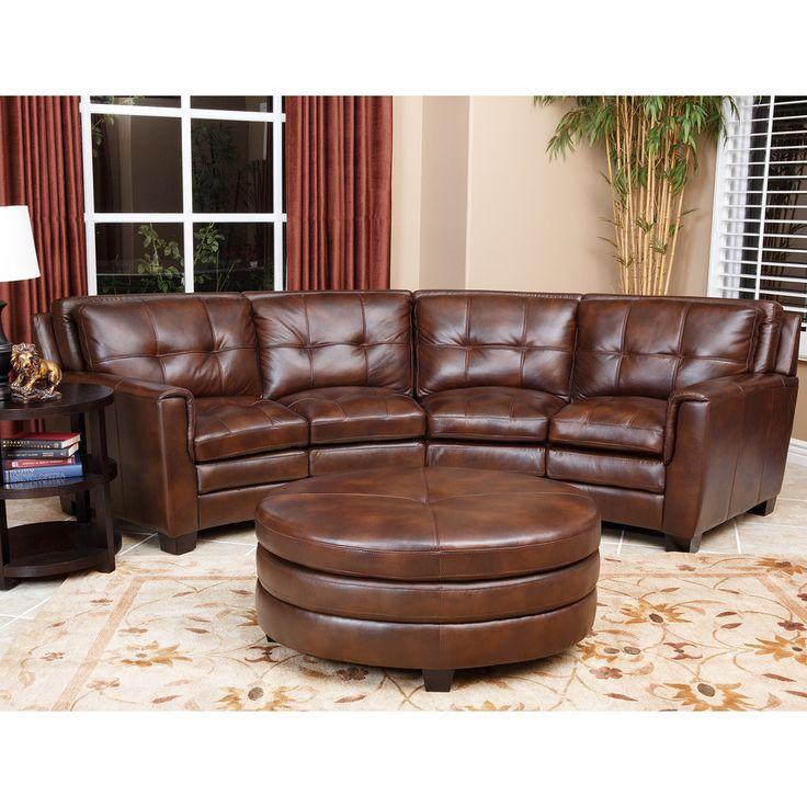 Best Abbyson Living Alexia Premium Top Grain Leather Sectional 400 x 300