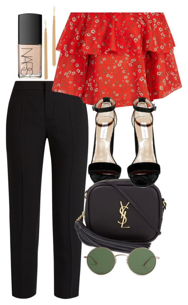 """""""Untitled #4776"""" by olivia-mr ❤ liked on Polyvore featuring Chloé, Alice + Olivia, Steve Madden, Yves Saint Laurent, The Row, Jules Smith and NARS Cosmetics"""