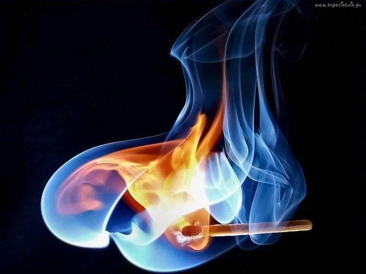 Zapałka, Ogień