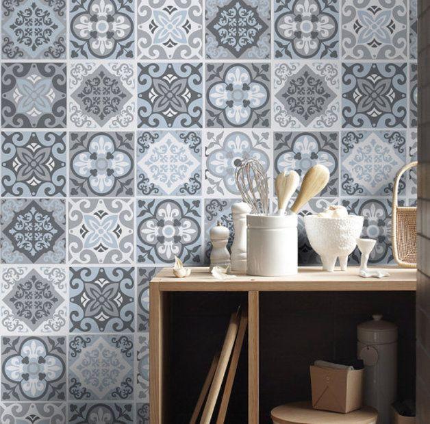 M s de 1000 ideas sobre azulejos grises en pinterest - Pegatinas para azulejos ...