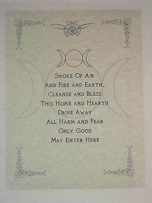 Wiccan House Segen Poster oder Buch der Schatten S…