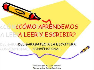 ¿Cómo aprendemos a leer y escribir? ~ Educación Preescolar, la revista